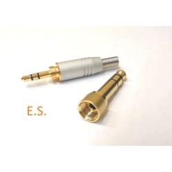 Adattatore Presa jack maschio stereo da 6,35mm a 3 poli con vite interna e jack stereo da 3,5 mm