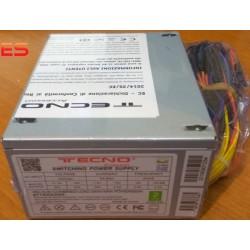 ALIMENTATORE PER PC MICRO ITX SFX TECNO 500W TASTO ON/OFF BULK 8CM FAN
