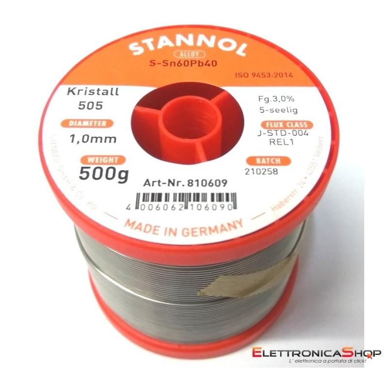 SN60PB40 STAGNO 1,0MM 500G. STANNOL