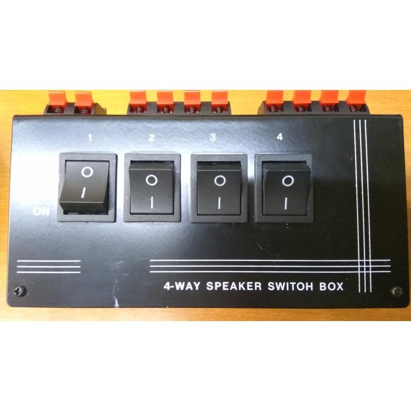 DIFETTO ESTETICO Commutatore audio per casse acustiche 1 ingresso 4 uscite Potenza max 200W