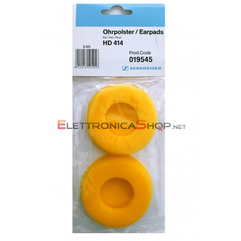 Pad spugnette gialle di ricambio per cuffie Sennheiser HD414 - HD414X 019545