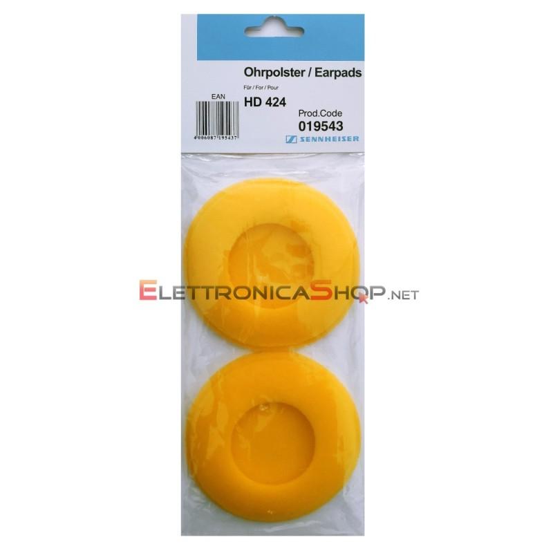 Pad spugnette gialle di ricambio per cuffie Sennheiser  HD424 - HD424X 019543