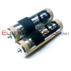 Coppia di batterie 1100mAh per rasoio Panasonic ER1611 ER1511 WER1511L2508