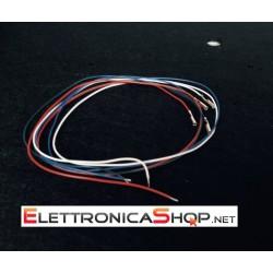 Kit 4 cavi audio per ricablaggio braccio testina giradischi 34 cm. Hi-Fi