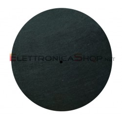 "Slipmat tappetino nero in feltro antistatico 12"" per giradischi"