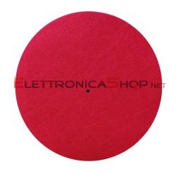 "Slipmat tappetino rosso in feltro antistatico 12"" per giradischi"