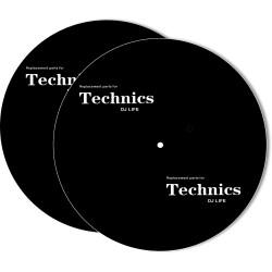 SLIPMAT 2 PZ, BLACK, TECHNICS DJ LIFE