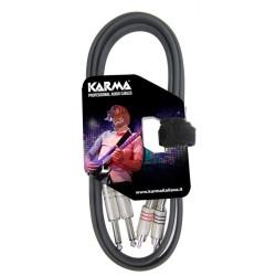 KARMA CA 8271M - Cavo audio 2 RCA - 2 Jack 6,3