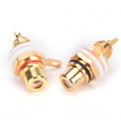 Connettore RCA da pannello gold Left