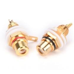 Connettore RCA da pannello gold Right
